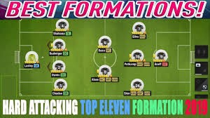 Top Eleven Best Formation 4-2-3-1 image with arrows and tactics