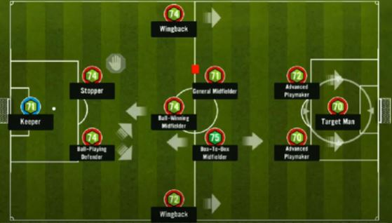 soccer manager 2-3-2-3 formation