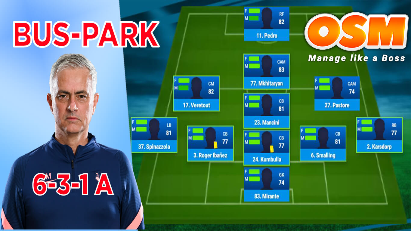Park the bus formtion for online soccer manager osm tactics