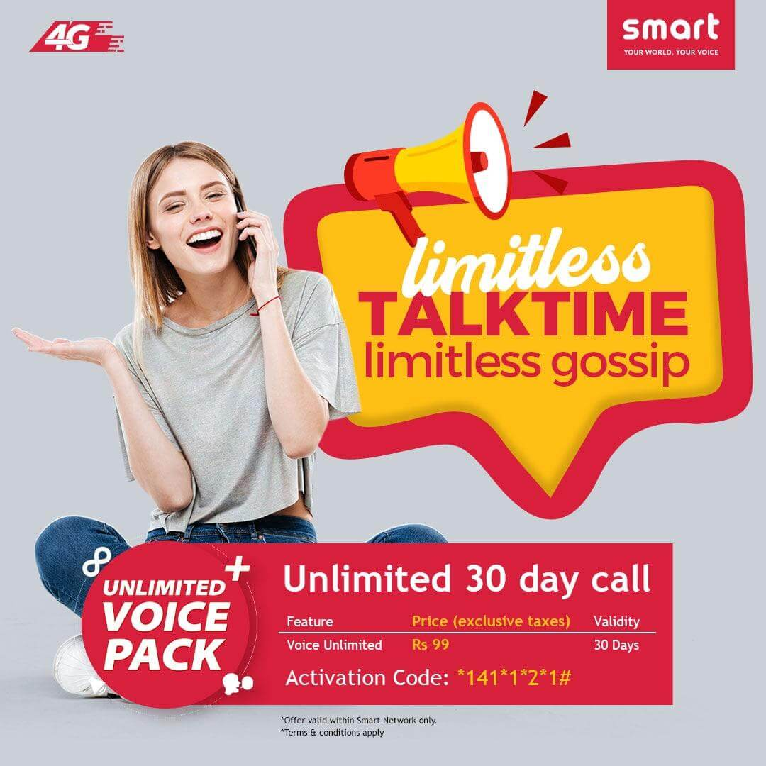 Smart cell activate unlimited talk time for 30 days