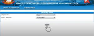 Driving license form fill up from Nepal