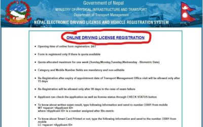 Driving License Registration from Nepal