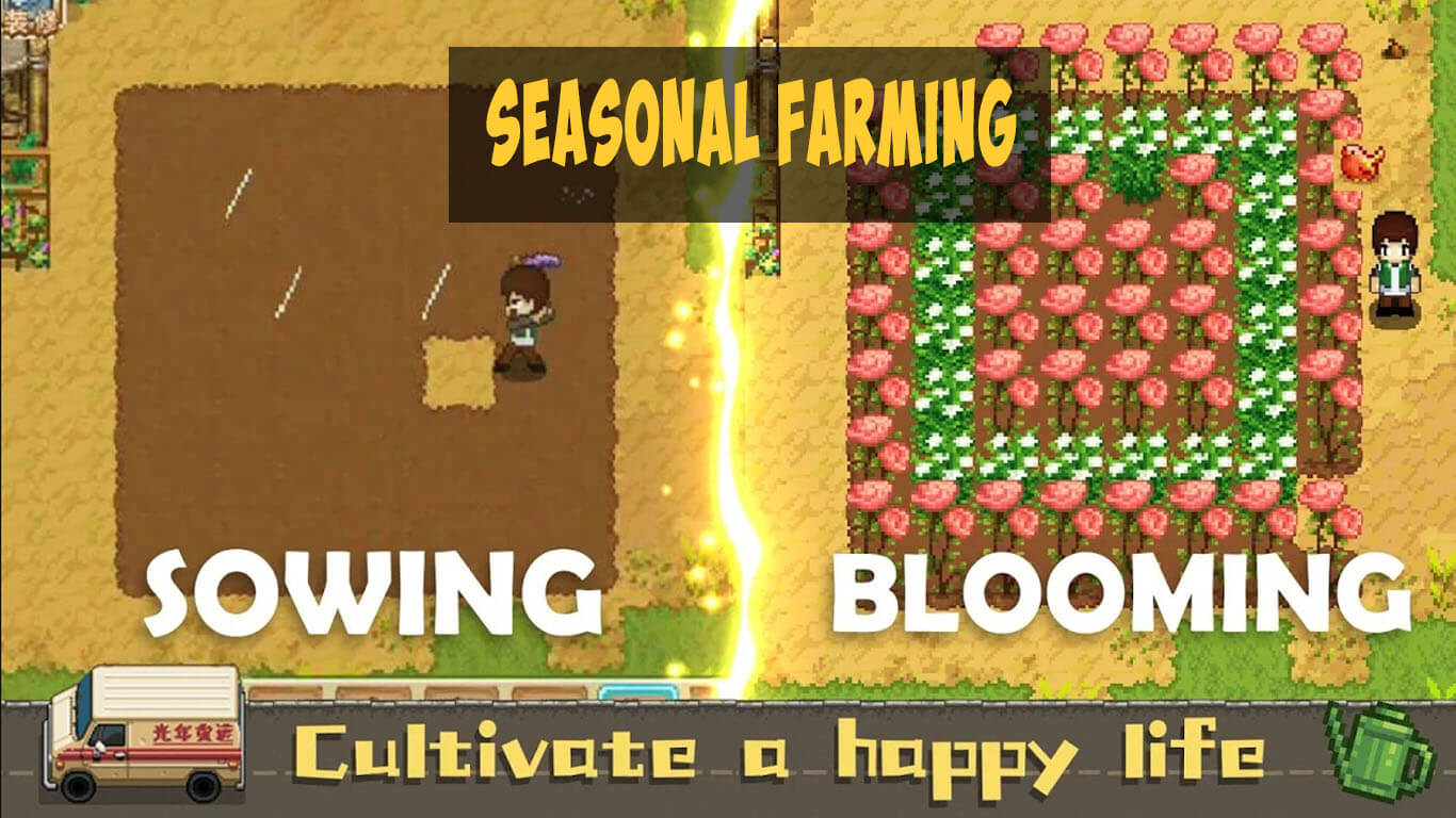 seasonal farming at harvest town