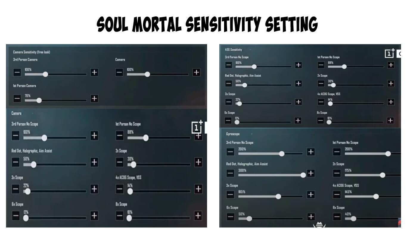 Pubg Mobile Soul Mortal Sensitivity Settings